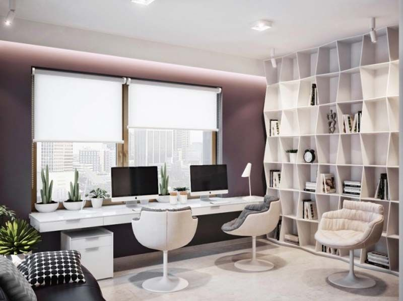 Home Office Design Purple